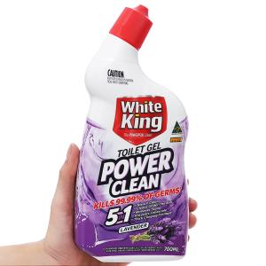 Nước tẩy nhà tắm White King Power Clean hương hoa oải hương 700ml
