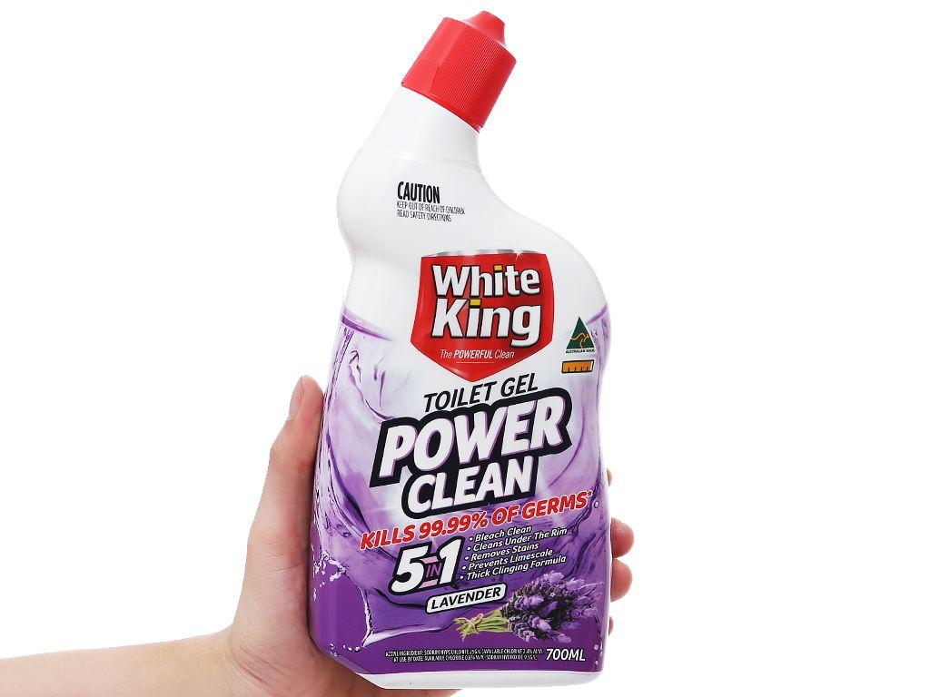 Gel vệ sinh tolet White King hương hoa oải hương 700ml 3