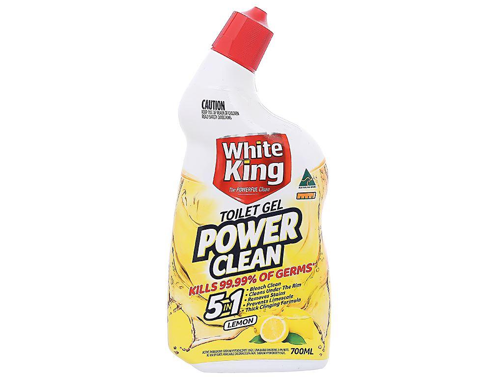 Gel vệ sinh tolet White King hương chanh 700ml 1