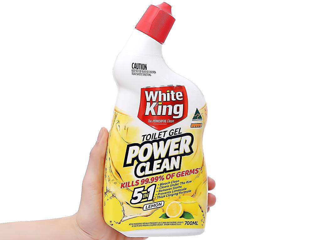 Gel vệ sinh tolet White King hương chanh 700ml 3