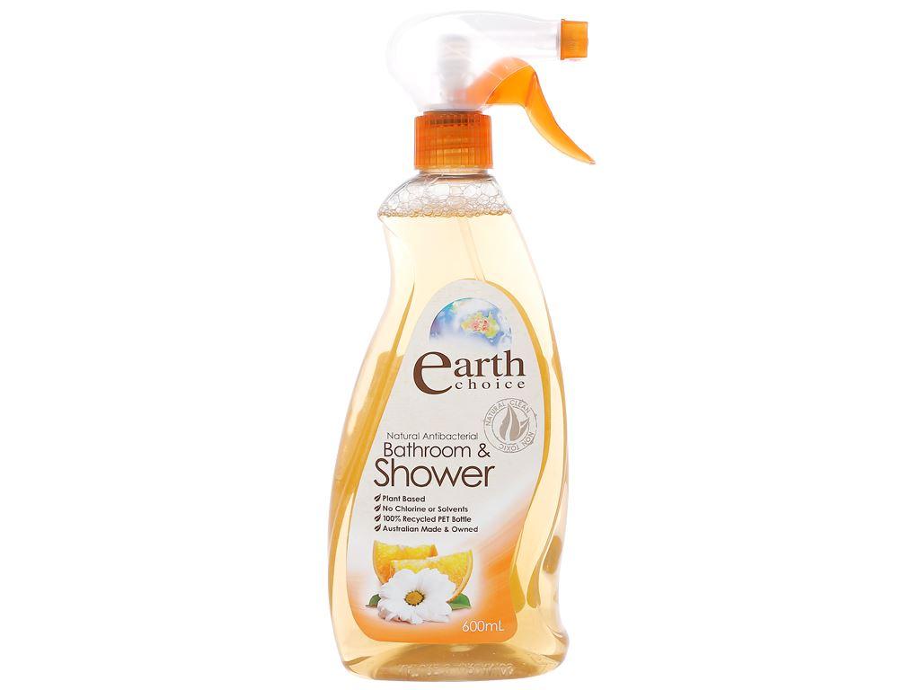 Nước tẩy nhà tắm Earth Choice hương chanh 600ml 1