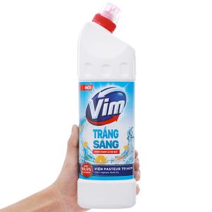Gel tẩy bồn cầu và nhà tắm VIM trắng sáng hương chanh sả dịu mát 880ml