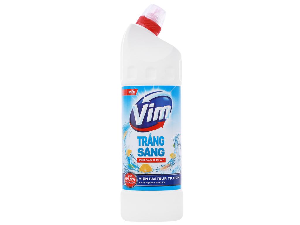Gel tẩy bồn cầu và nhà tắm VIM trắng sáng hương chanh sả dịu mát 880ml 1