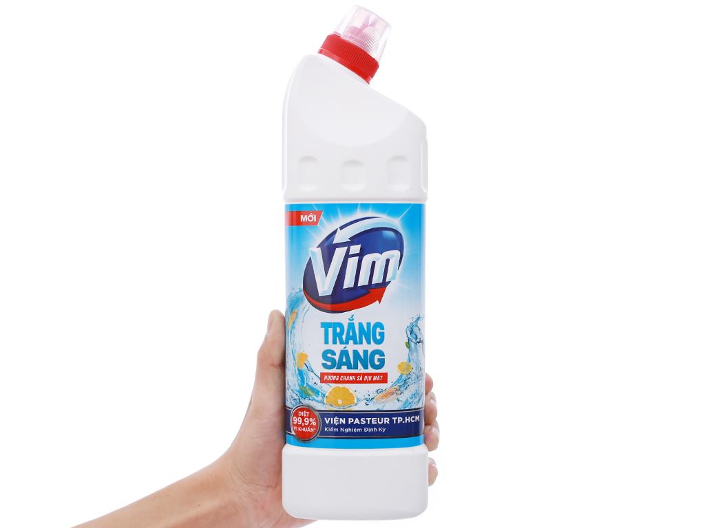 Gel tẩy bồn cầu và nhà tắm VIM trắng sáng hương chanh sả dịu mát 880ml 4