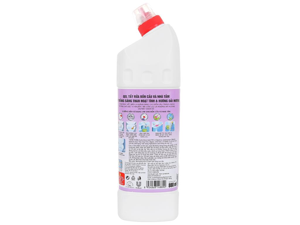 Gel tẩy bồn cầu và nhà tắm VIM than hoạt tính & hương oải hương 880ml 2