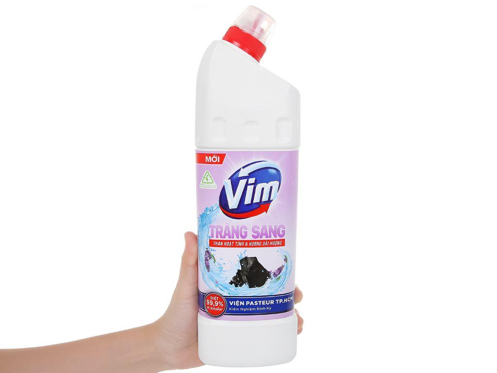 Gel tẩy bồn cầu và nhà tắm VIM than hoạt tính & hương oải hương 880ml 4