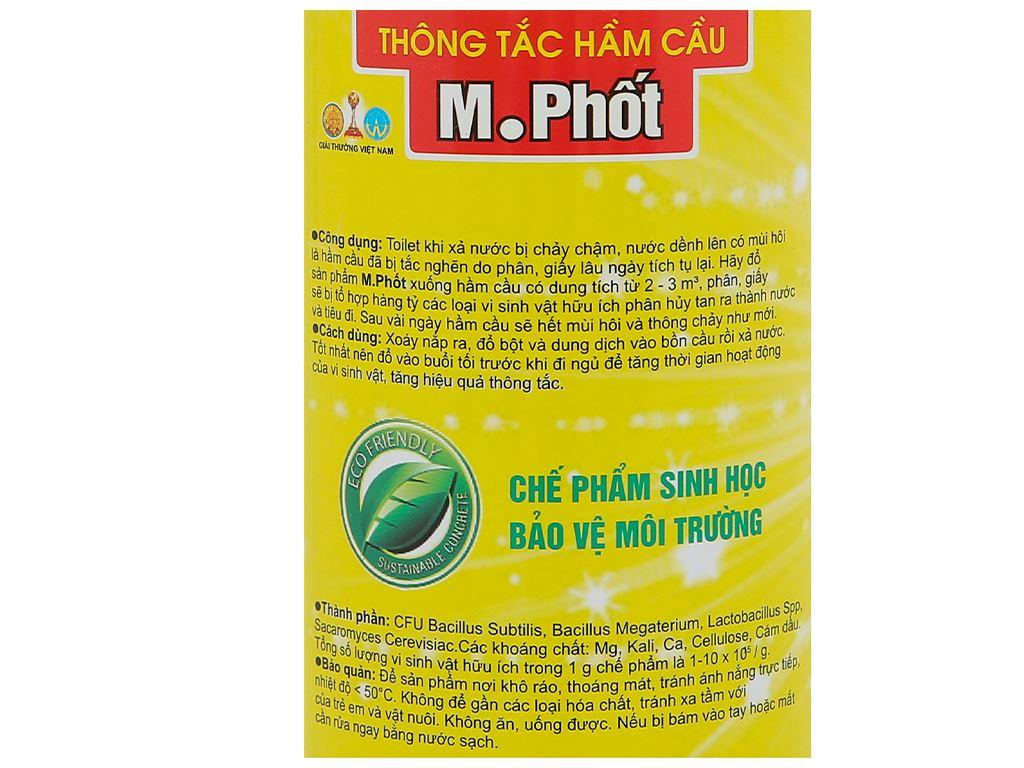 Dung dịch thông tắc hầm cầu Hando M.Phốt chai 600ml 5