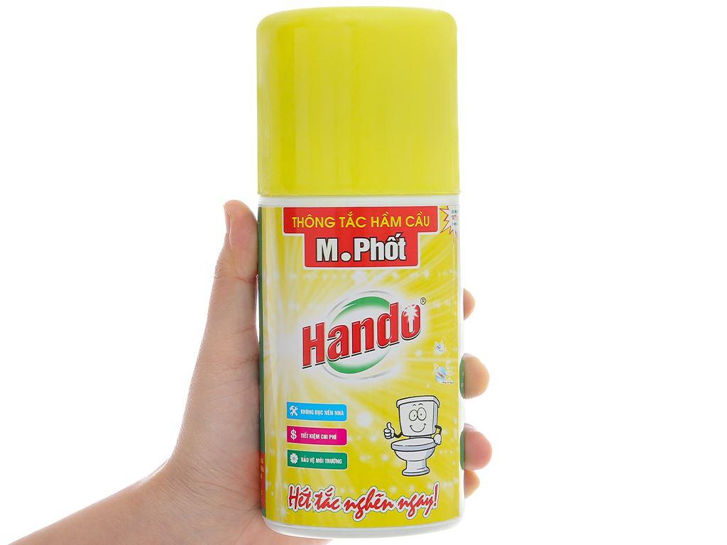 Dung dịch thông tắc hầm cầu Hando M.Phốt chai 600ml 6