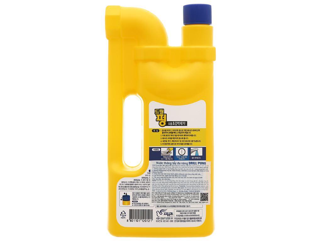 Nước thông tẩy đa năng Drill Pung chai 1 lít 2