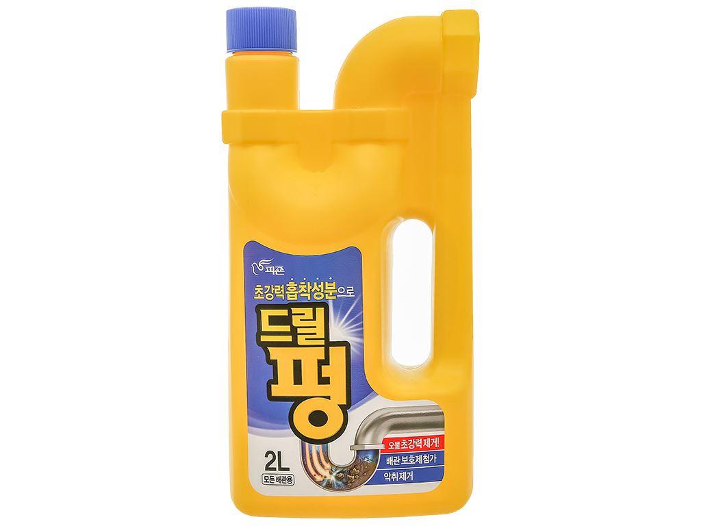 Nước thông tẩy đa năng Drill Pung chai 2 lít 1