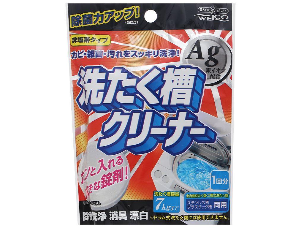 Viên tẩy làm sạch lồng máy giặt Welco khử mùi kháng khuẩn gói 70g 1