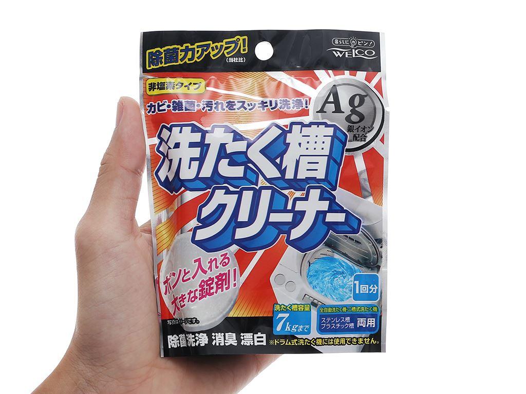 Viên tẩy làm sạch lồng máy giặt Welco khử mùi kháng khuẩn gói 70g 4