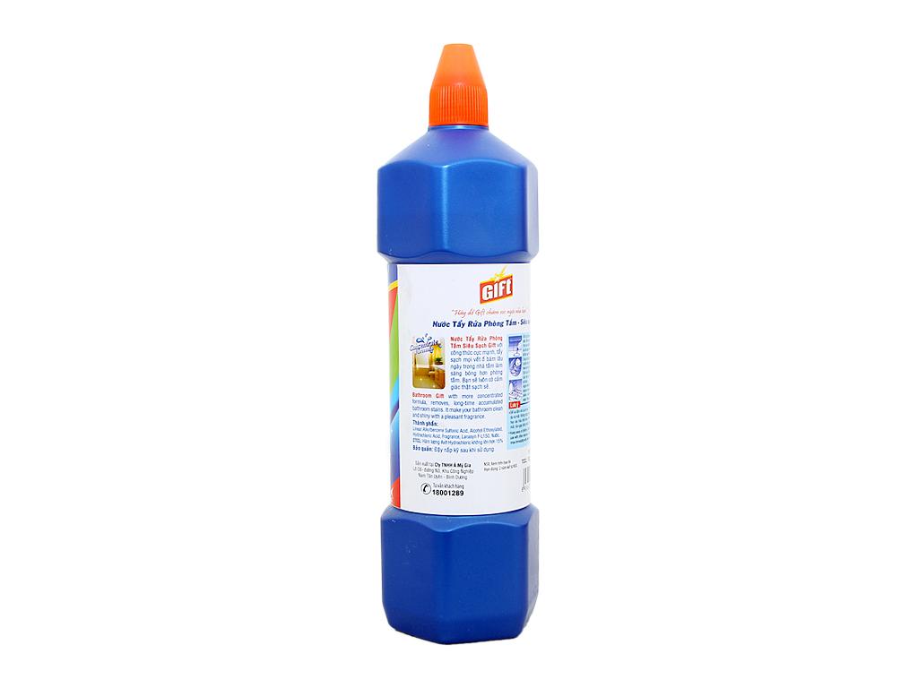 Nước tẩy nhà tắm Gift đậm đặc siêu sạch 900ml 3