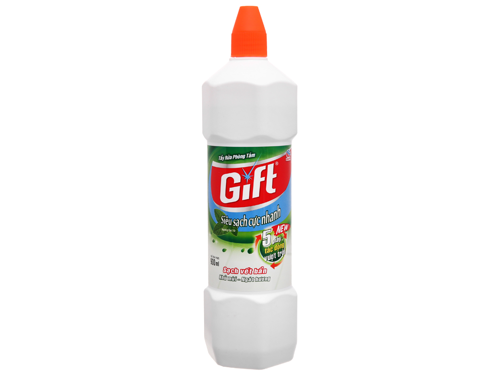 Nước tẩy nhà tắm Gift hương bạc hà 900ml 1