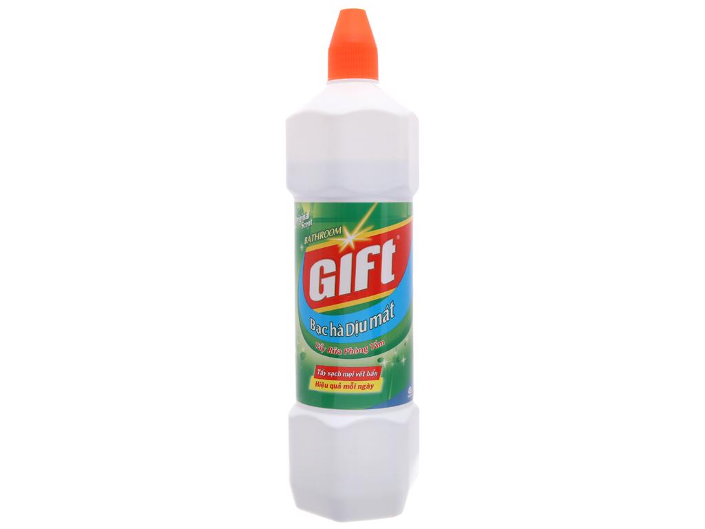 Nước tẩy nhà tắm Gift hương bạc hà 900ml 2