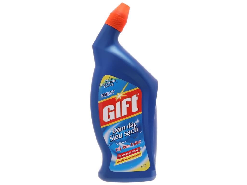 Nước tẩy bồn cầu Gift đậm đặc siêu sạch 600ml 2