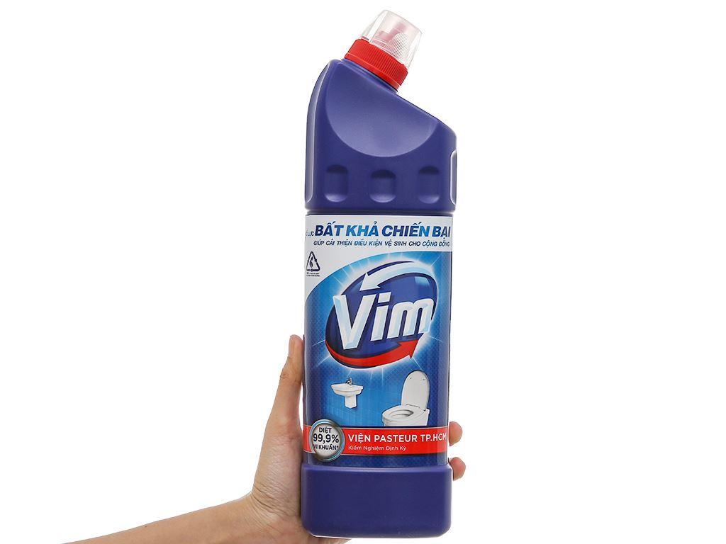 Nước tẩy bồn cầu & nhà tắm VIM diệt khuẩn 900ml 6