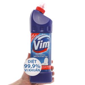 Nước tẩy bồn cầu & nhà tắm VIM diệt khuẩn 900ml