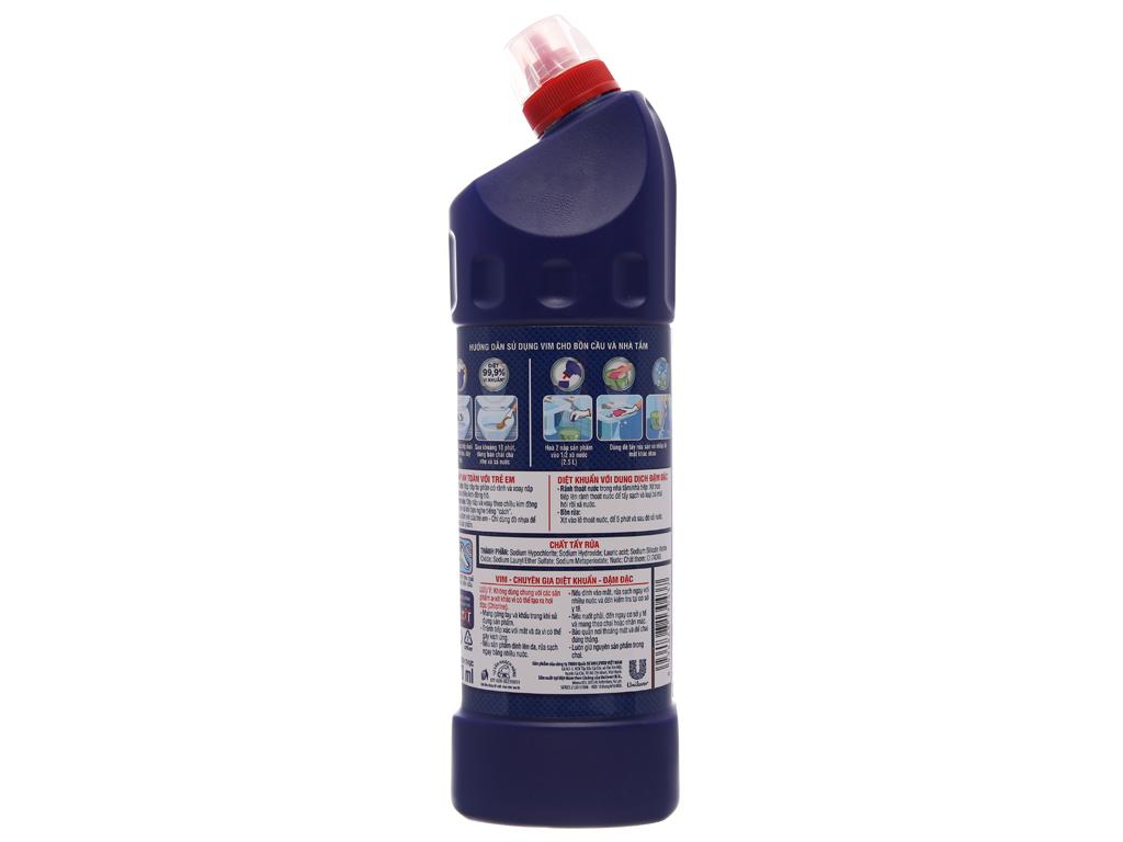 Nước tẩy bồn cầu & nhà tắm VIM diệt khuẩn 900ml 3