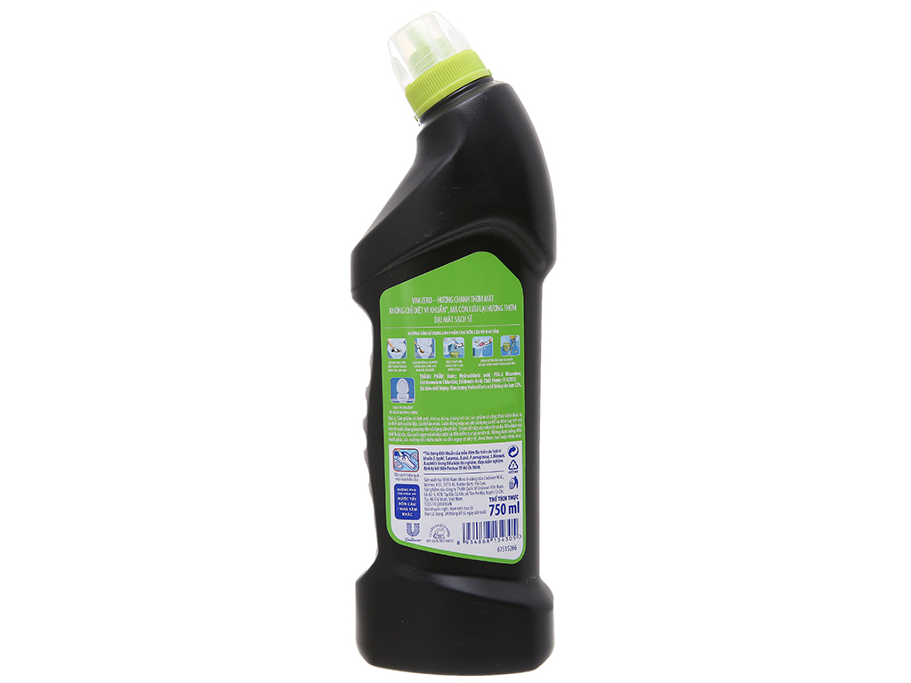Nước tẩy bồn cầu VIM Zero hương chanh 750ml 3