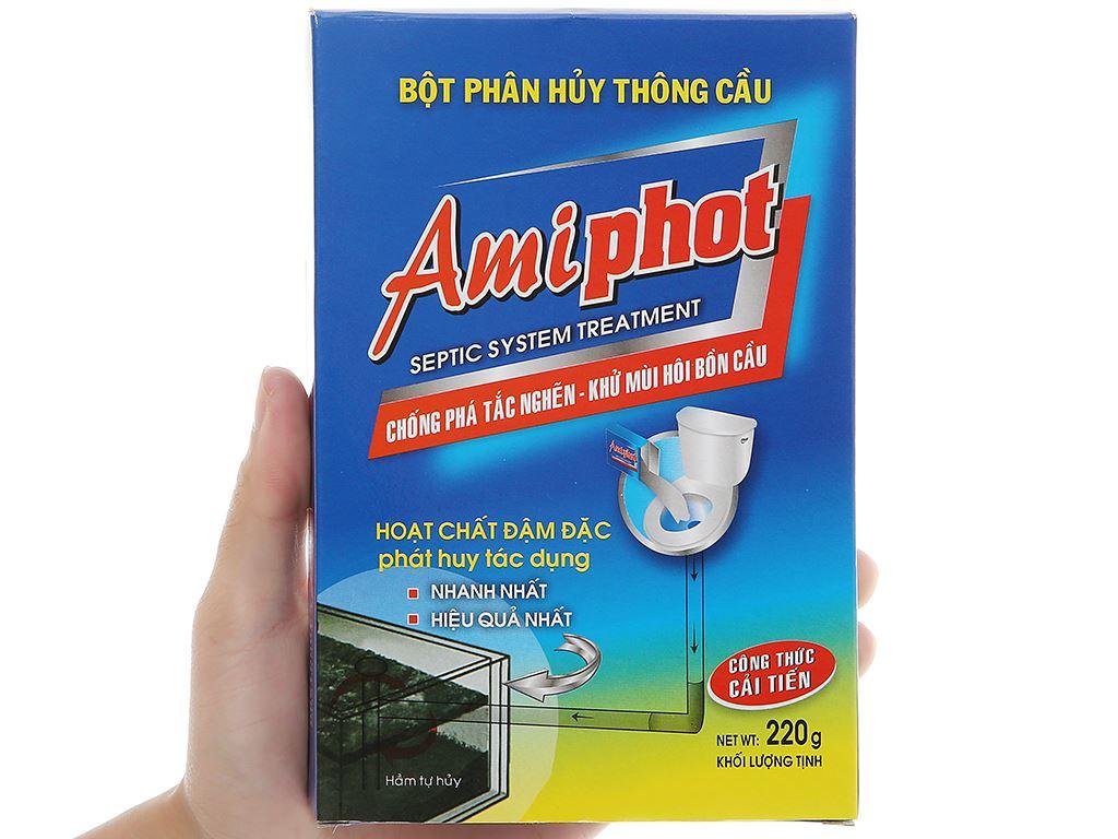 Bột phân huỷ thông bồn cầu Amiphot 220g 4