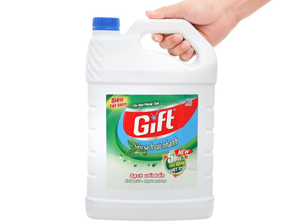 Nước tẩy nhà tắm Gift hương bạc hà 3.8kg 4
