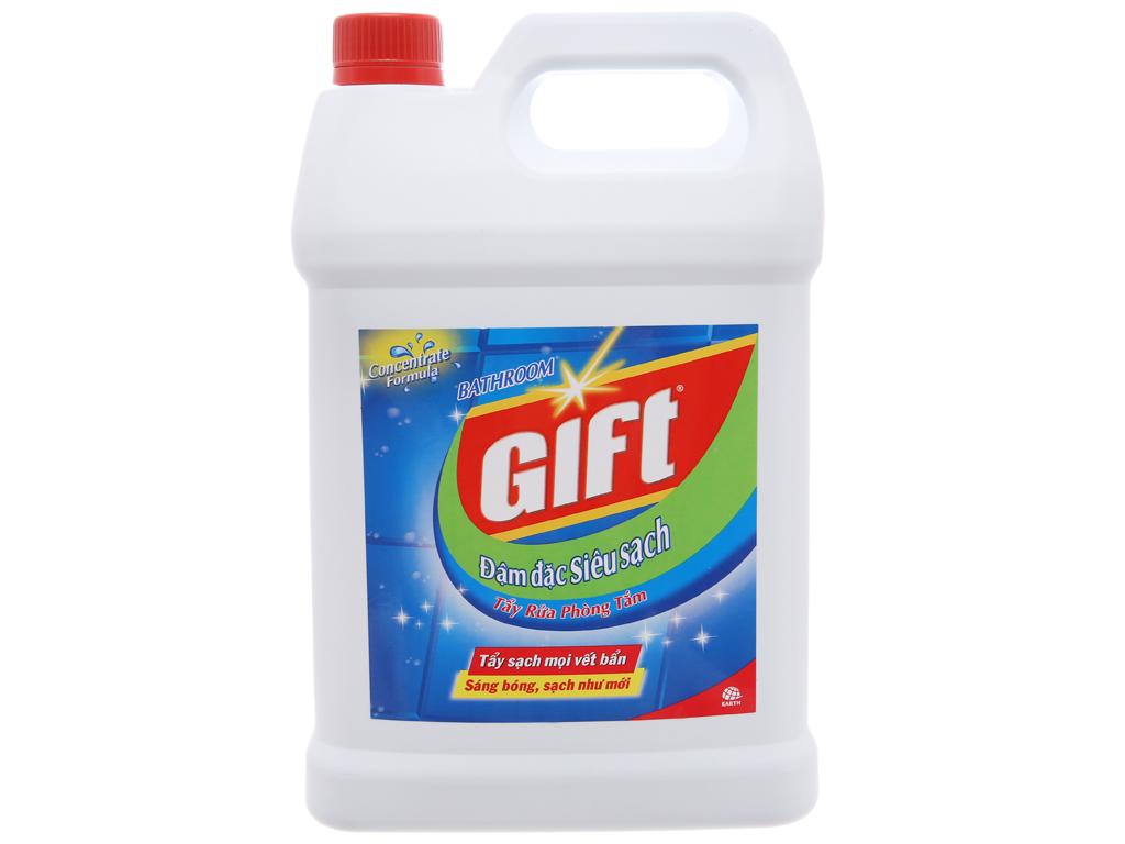 Nước tẩy nhà tắm Gift đậm đặc siêu sạch 4kg 1