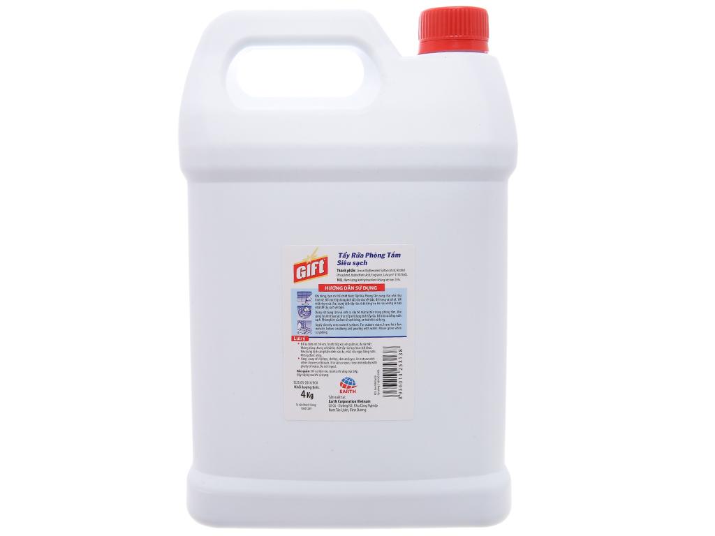 Nước tẩy nhà tắm Gift đậm đặc siêu sạch 4kg 2