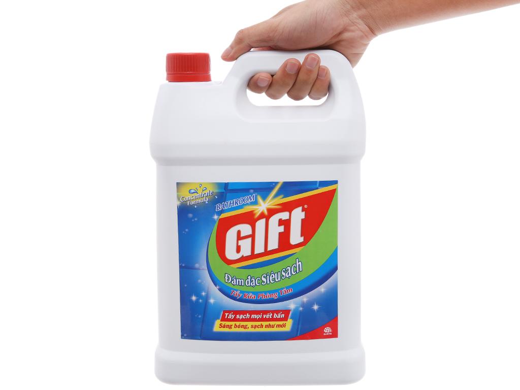 Nước tẩy nhà tắm Gift đậm đặc siêu sạch 4kg 3