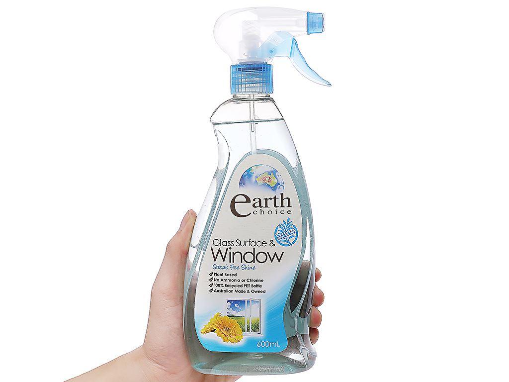 Nước lau kính Earth Choice cao cấp chai 600ml 3