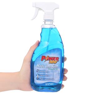 Nước lau kính Power100 hương bạc hà chai 580ml