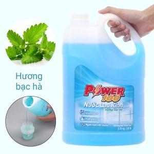 Nước lau kính Power100 hương bạc hà can 3.8 lít