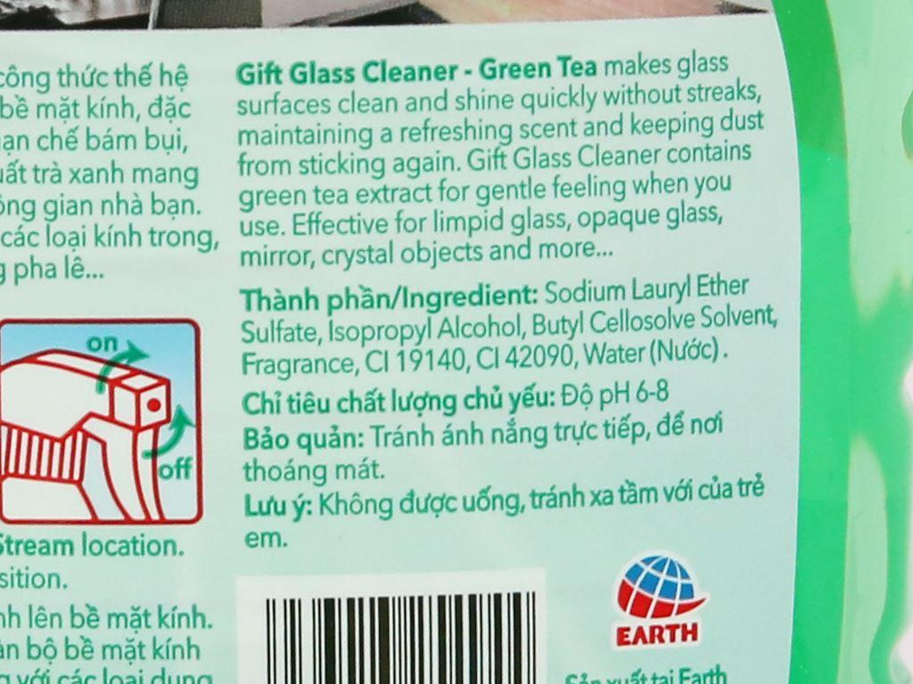 Nước lau kính Gift hương trà xanh chai 580ml 5