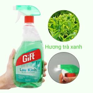 Nước lau kính Gift hương trà xanh chai 580ml