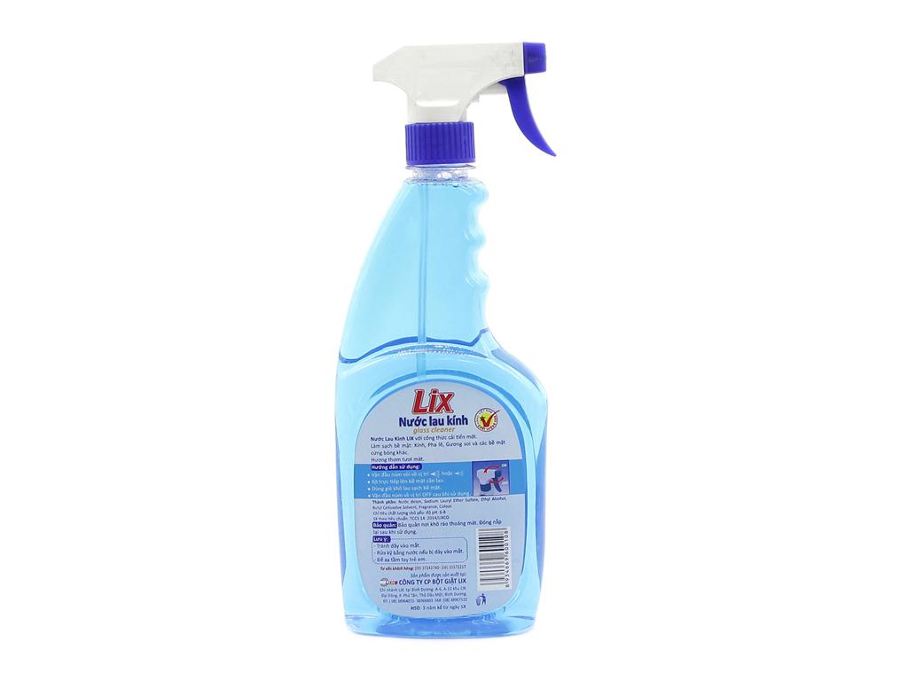 Nước lau kính Lix hương thơm mát 650ml 3
