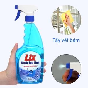 Nước lau kính Lix hương thơm tươi mát chai 650ml