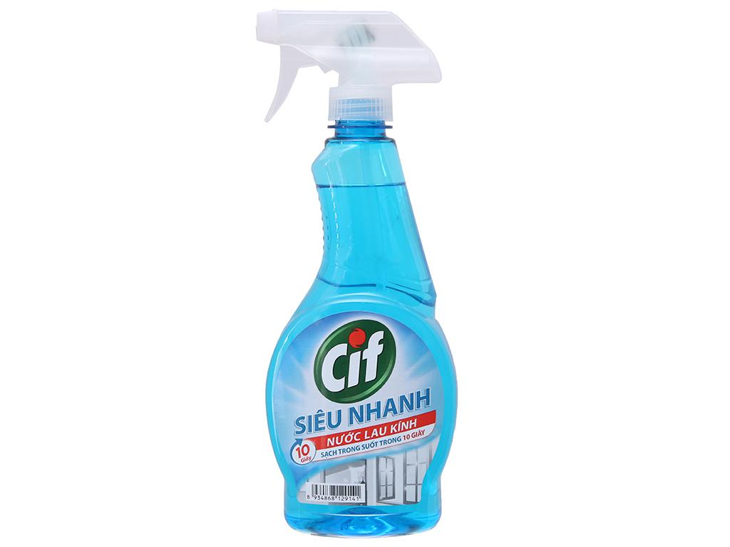 Nước lau kính CIF siêu nhanh chai 520ml 2
