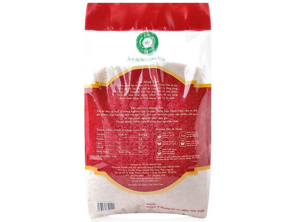 Gạo Hương Sen Minh Tâm túi 5kg 2