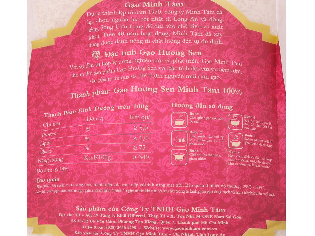 Gạo Hương Sen Minh Tâm túi 5kg 3