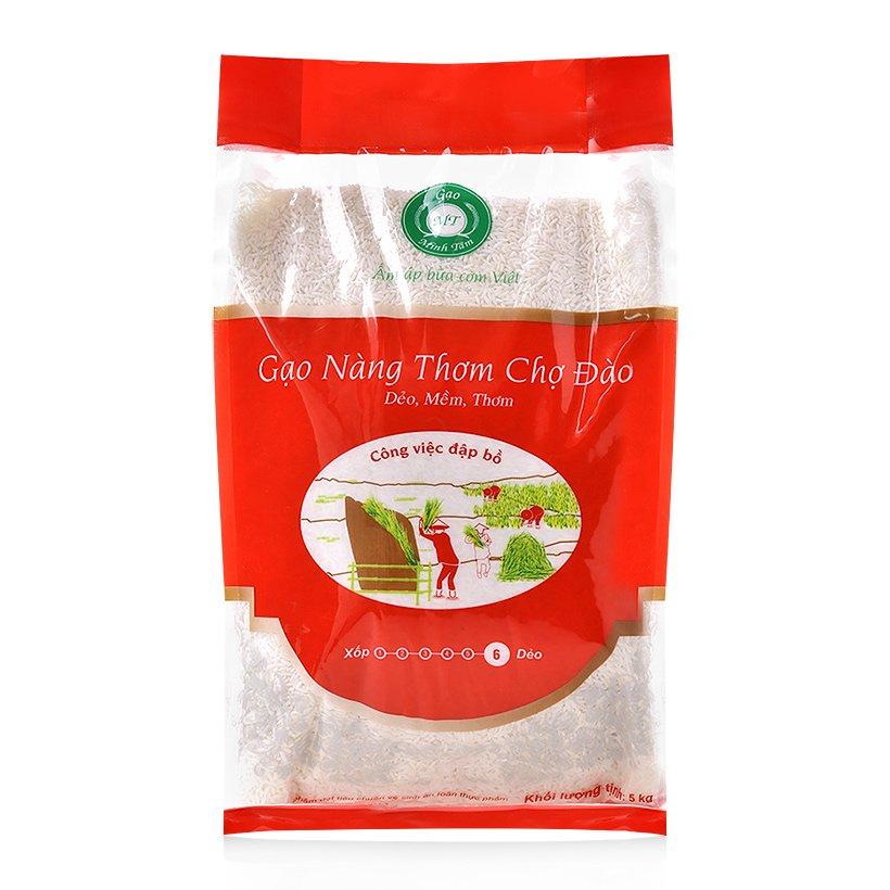 Gạo nàng thơm chợ Đào Minh Tâm túi 5kg 2