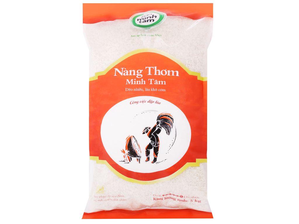 Gạo nàng thơm chợ Đào Minh Tâm túi 5kg 1