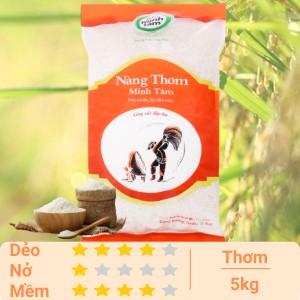 Gạo nàng thơm chợ Đào Minh Tâm túi 5kg