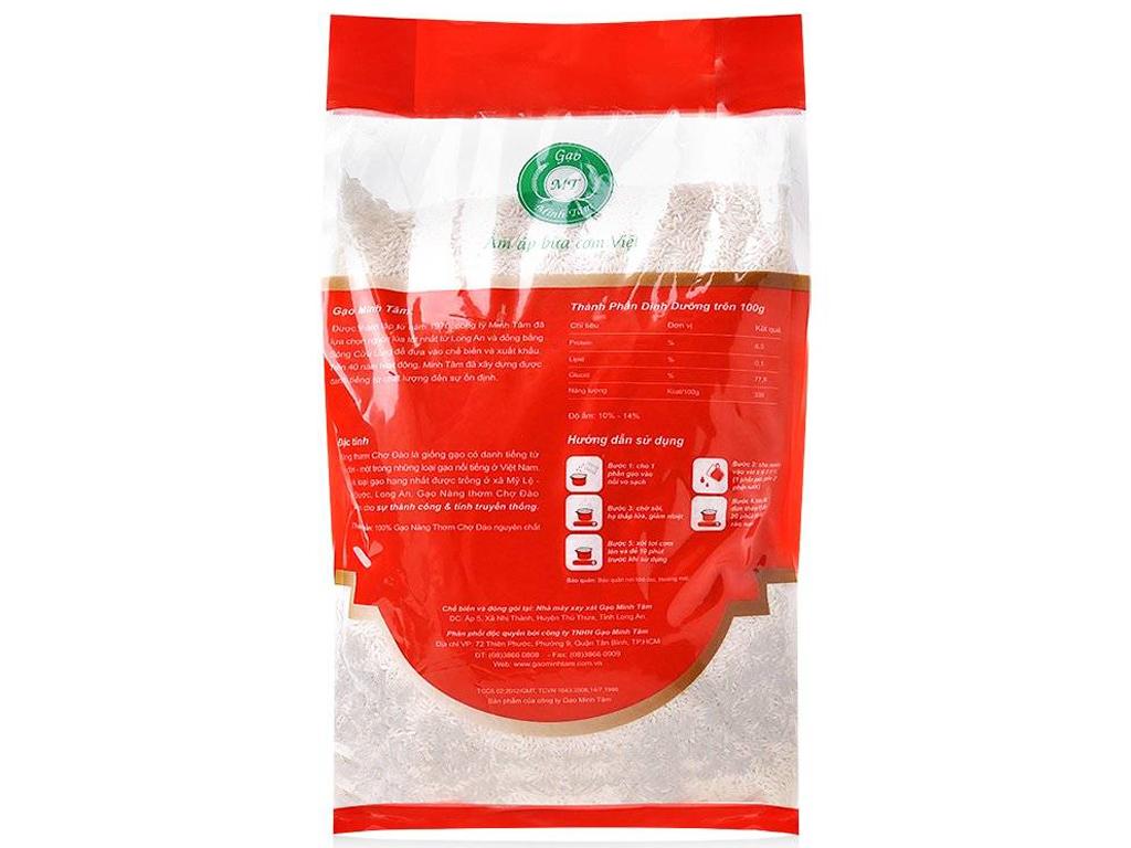 Gạo nàng thơm chợ Đào Minh Tâm túi 5kg 3