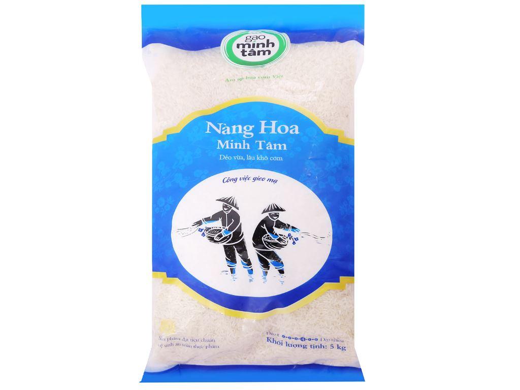 Gạo Nàng Hoa Minh Tâm túi 5kg 1