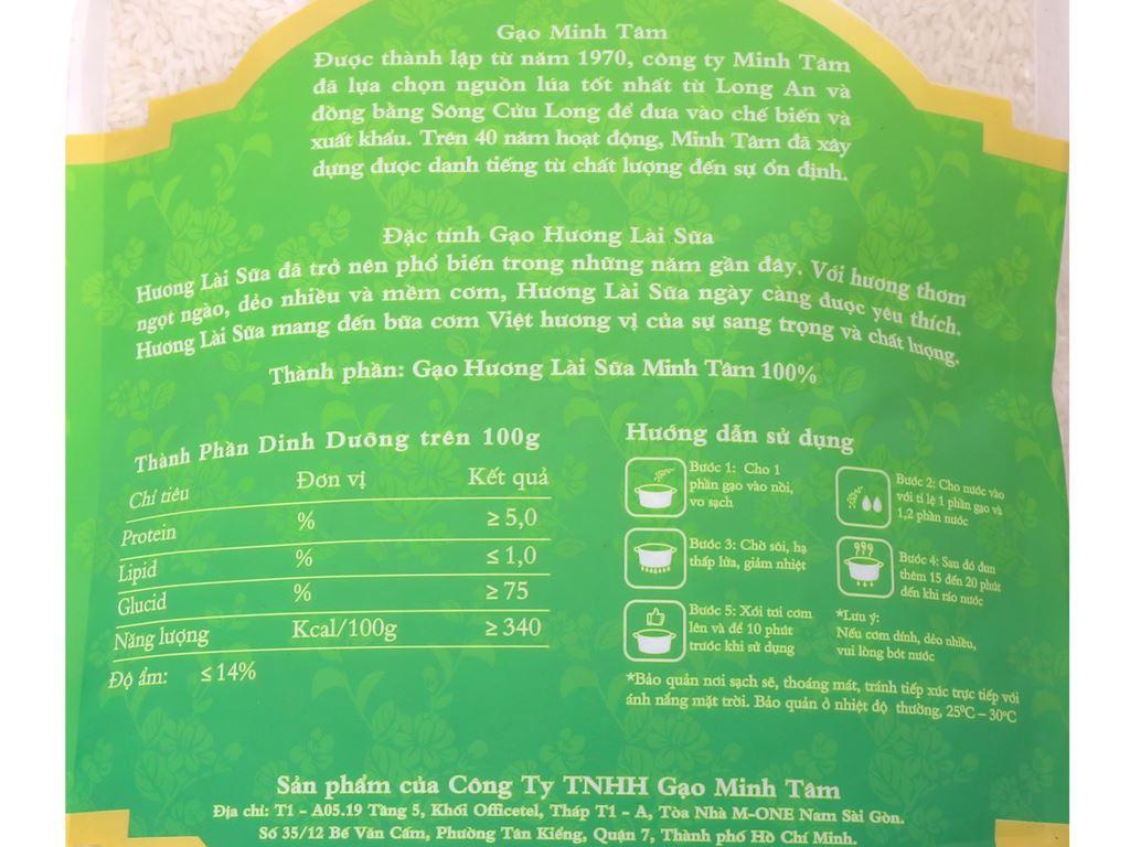Gạo hương lài sữa Minh Tâm túi 5kg 3