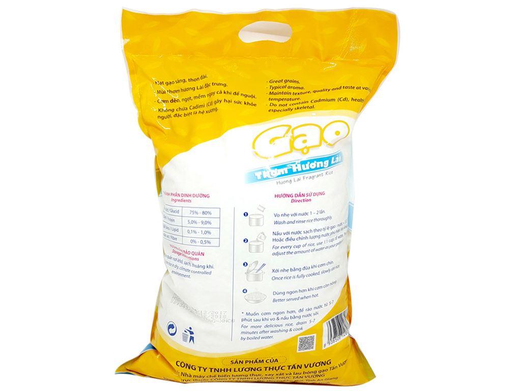 Gạo thơm hương lài Tấn Vương túi 5kg 2