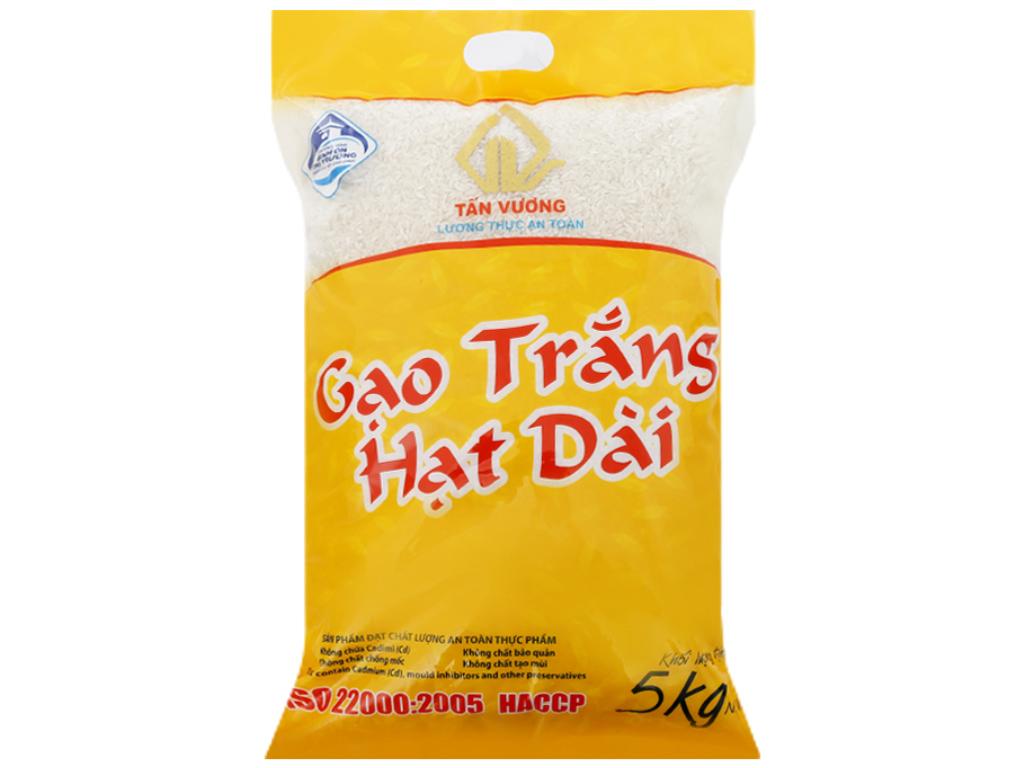 Gạo trắng hạt dài Tấn Vương túi 5kg 1