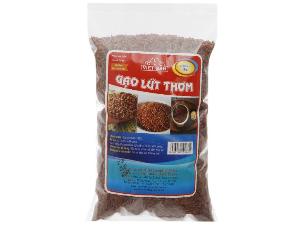 Gạo lứt thơm Việt San túi 1kg 2