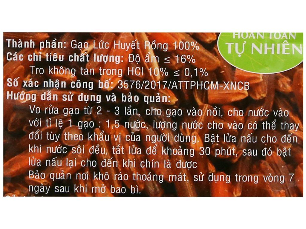 Gạo lức huyết rồng PMT túi 2kg 7