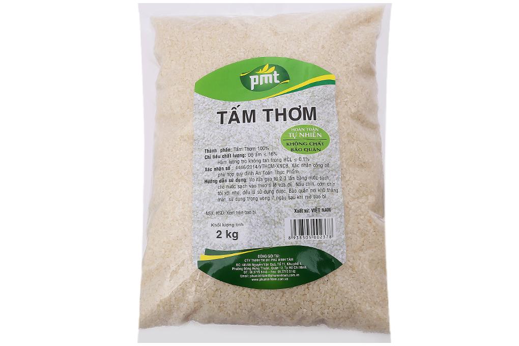 Gạo tấm thơm PMT túi 2kg 2